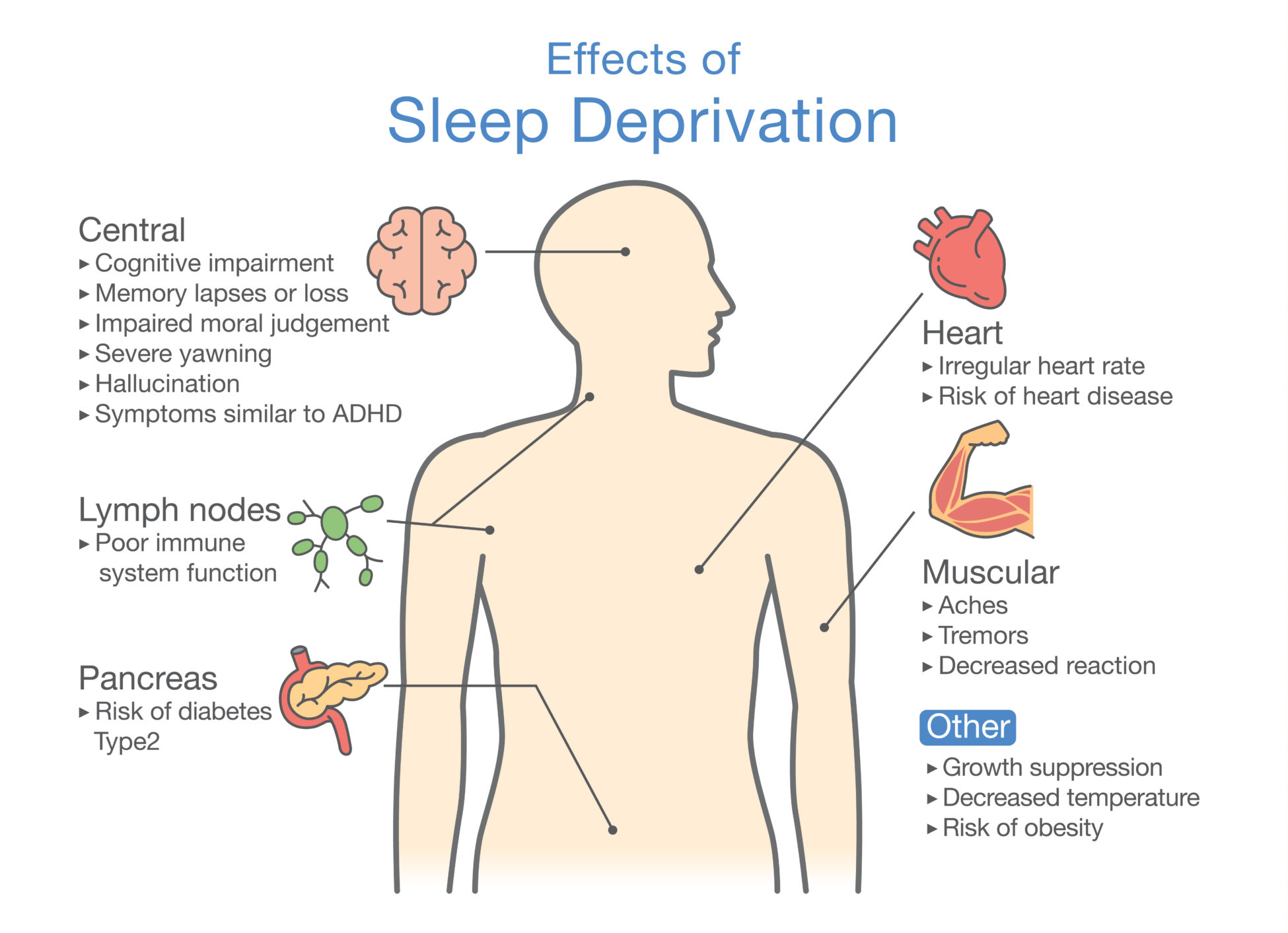 the effect of sleep deprivation Did you know that your child needs adequate sleep to be happy and function during the day learn the signs of childhood sleep deprivation here.