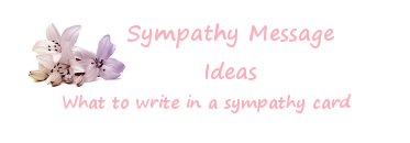 Screen shot of sympathy message ideas in pink writing with white Lilies